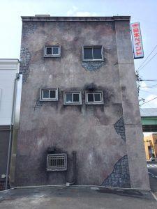 ビルの壁画 施工後