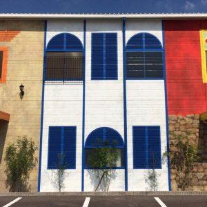 建築会社ショールーム壁画