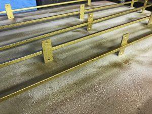 真鍮古美色エイジング塗装施工後
