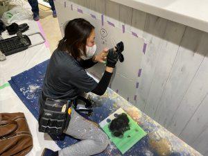 ステンシル壁画